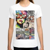 punk rock T-shirts featuring Punk Rock poster by Mira C