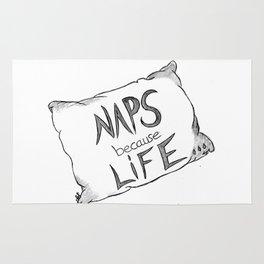 Naps because life Rug