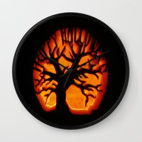 halloween Wall Clocks featuring HalloWeen by 2sweet4words Designs
