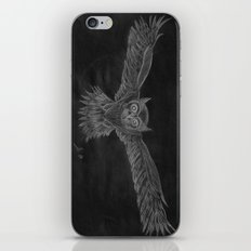 Owl sketch inverted iPhone & iPod Skin