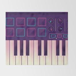 Neon MIDI Controller Throw Blanket