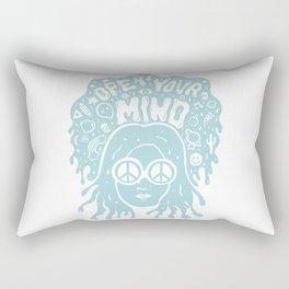 Open Your Mind in Mint Rectangular Pillow