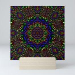 Rainbow Kaleidoscope 3 Mini Art Print