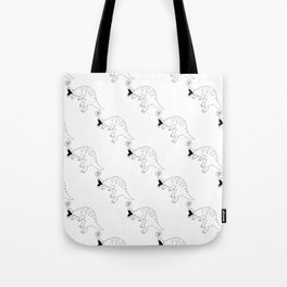dinossaur eating pizza pattern Tote Bag