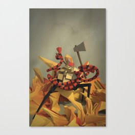 FireFighter with Washboard Abs Canvas Print