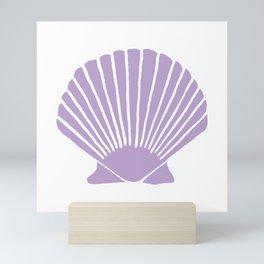 Lavender Seashell Mini Art Print