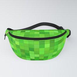 Green Square Pixels Fanny Pack