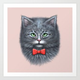 Meooowwwww......( i'm the coolest cat in the world.....hahaha..... ) Art Print
