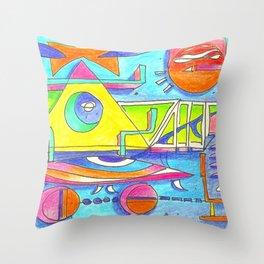 happy life episodes Throw Pillow