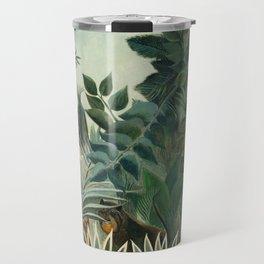 The Equatorial Jungle (1909) by Henri Rousseau Travel Mug