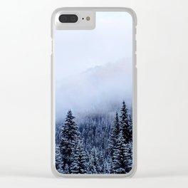 Colorado Snow Clear iPhone Case