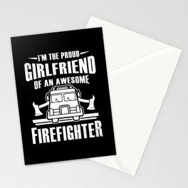 Fireman Firewomen Proud Girlfriend Of An Firefighter Gift Stationery Cards