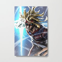 All Might, My Hero Academia Metal Print