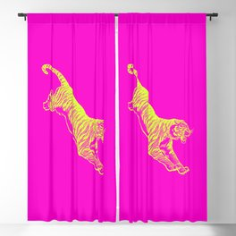 Tiger Running Blackout Curtain
