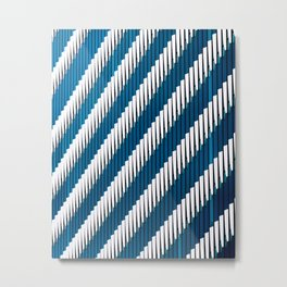 Lines - Abstract Architecture of Tokyo Metal Print