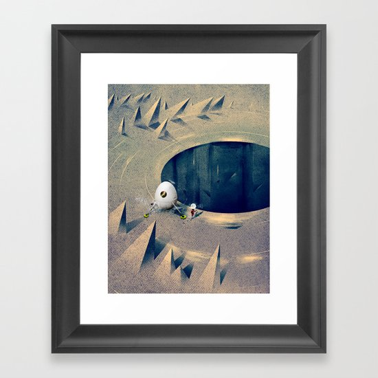 "Lunarize ""Big Hole"" Print Framed Art Print"