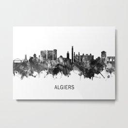 Algiers Algeria Skyline BW Metal Print
