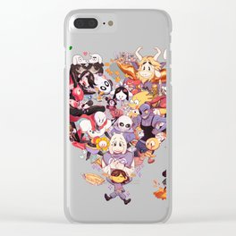 Undertale heart Clear iPhone Case