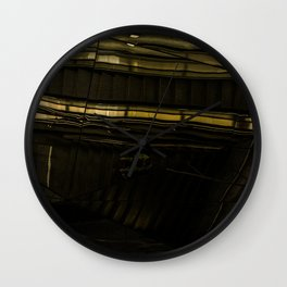 The metro station mirror effect Wall Clock