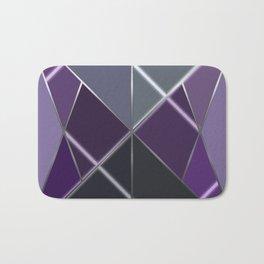 Mosaic tiled glass with a laser show Bath Mat