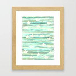 Whimsical Paper Boats Framed Art Print