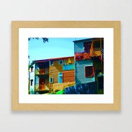 Sunny Morning at La Boca, Buenos Aires Framed Art Print