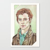 cumberbatch Canvas Prints featuring Benedict Cumberbatch by Jess P.