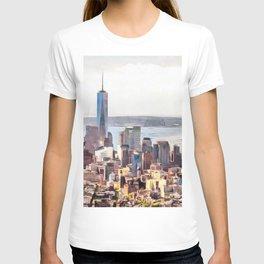 New York, panoramic view, USA T-shirt