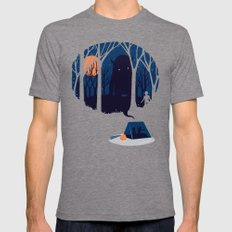 Scary story Mens Fitted Tee Tri-Grey LARGE