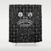ouija Shower Curtains featuring OUIJA by DIVIDUS