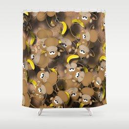 Monkeys And Bananas Shower Curtain