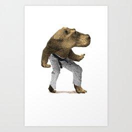 Dangerous Hippo Art Print