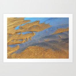 Salt And Sand Abstract Art Print
