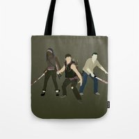 atlanta Tote Bags featuring Team Atlanta by Six Pixel Design