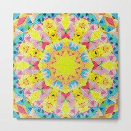 Organic Peace Oil Painting Mandala Metal Print