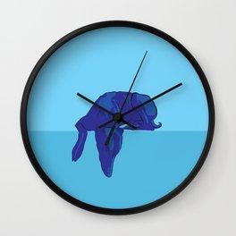 Blue/Grey hound Wall Clock