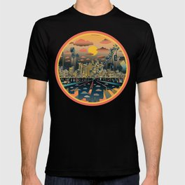 los angeles city skyline T-shirt