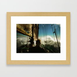 Hitting open waters Framed Art Print
