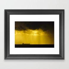 Ships In A Storm Framed Art Print