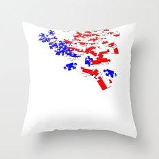 patriotic jigsaw Throw Pillow