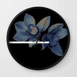 brown flwr Wall Clock