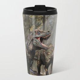 Tyrannosaurus hunting edmontosaurus Travel Mug