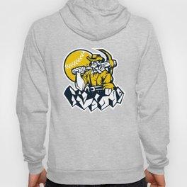 Miner prospector baseball mascot . Hoody