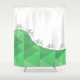 Biking Goals Shower Curtain