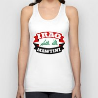 arab Tank Tops featuring Iraq My Homeland Banner by mailboxdisco