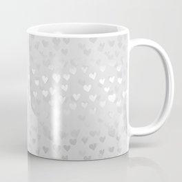 Hearts in grey Coffee Mug