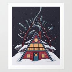 A Winter House Art Print