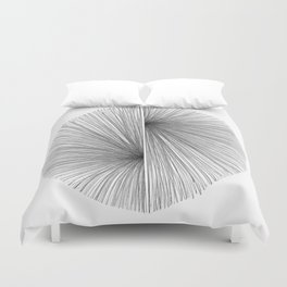 Mid Century Modern Geometric Abstract Radiating Lines Duvet Cover