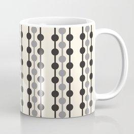 Geometric Droplets Pattern Series in Black Gray Cream Coffee Mug