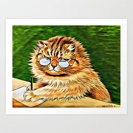 ORANGE TABBY CAT - Louis Wain's Cats Art Print